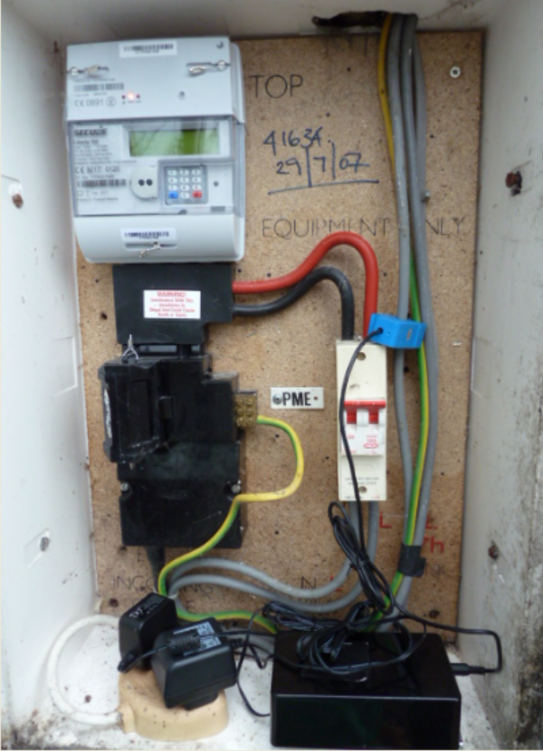 Logger in meter cupboard
